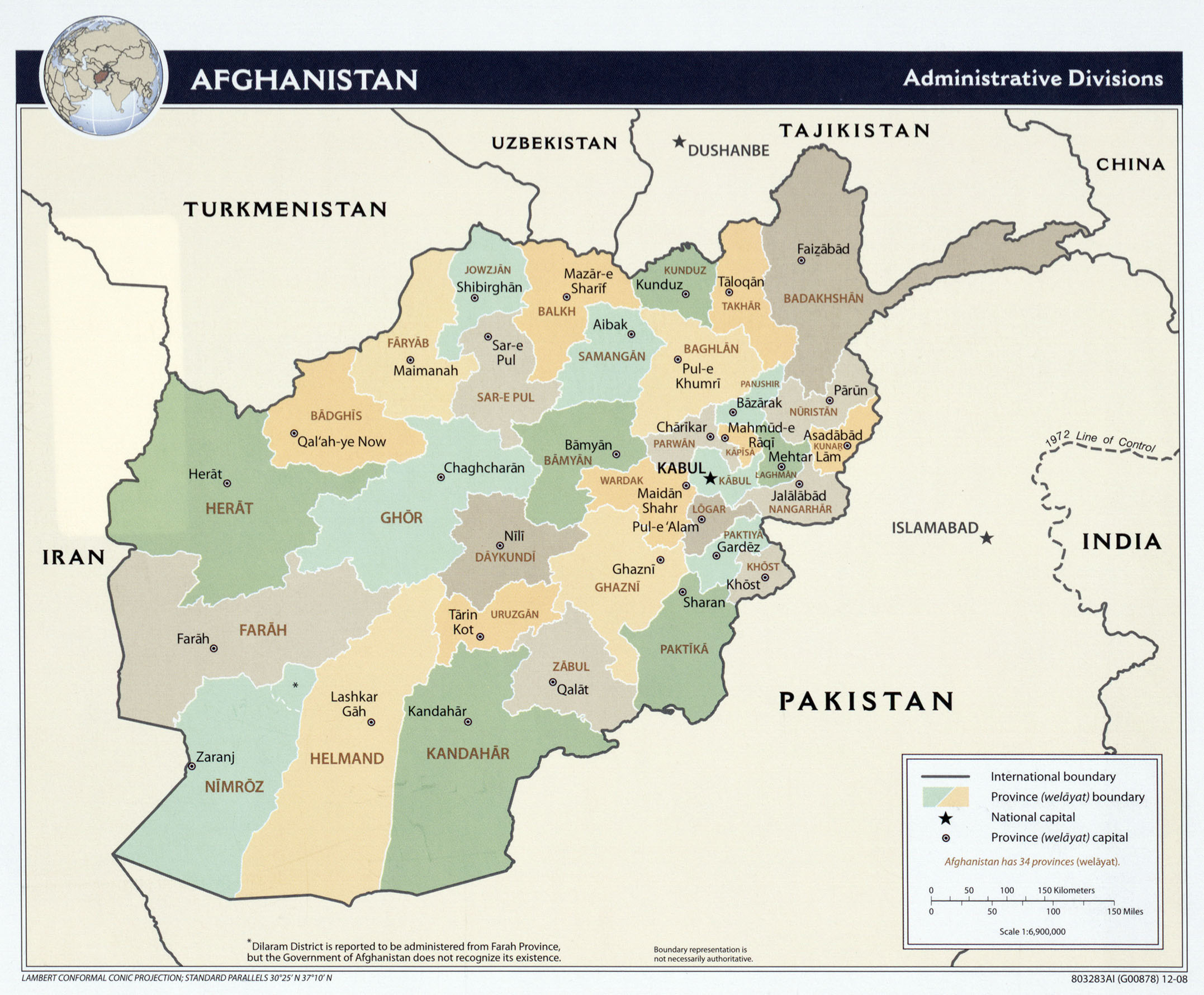 Maps Of Afghanistan - Map of or